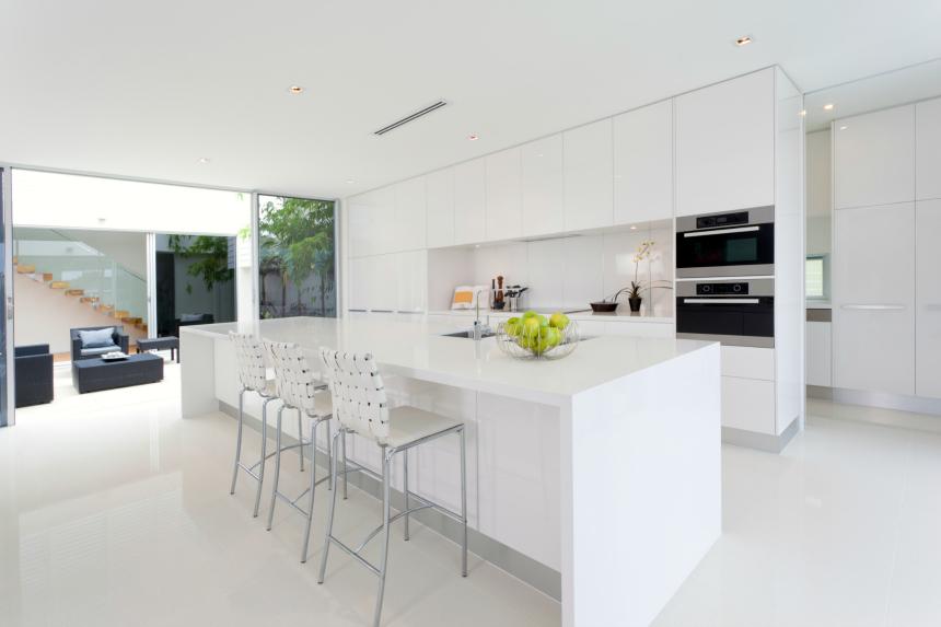 modern kitchen design white cabinets