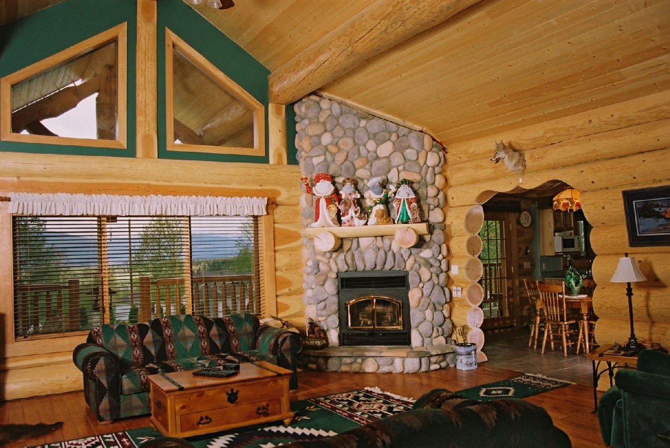 modern log home decorating ideas