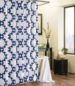 navy blue moroccan curtains