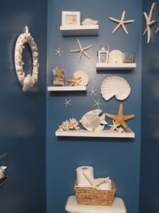 navy blue nautical bathroom decor