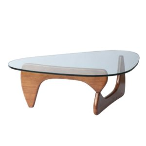 noguchi style glass coffee table