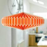 orange bedside lamp shade