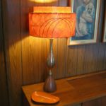orange chevron lamp shade
