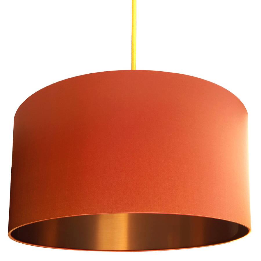 orange lamp shade uk