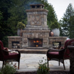 outdoor fireplace box