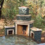 outdoor fireplace design kits