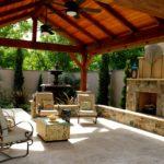 outdoor fireplace gazebo