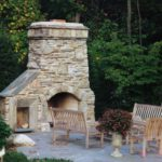 outdoor fireplace kits concrete
