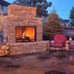 outdoor fireplace log kits