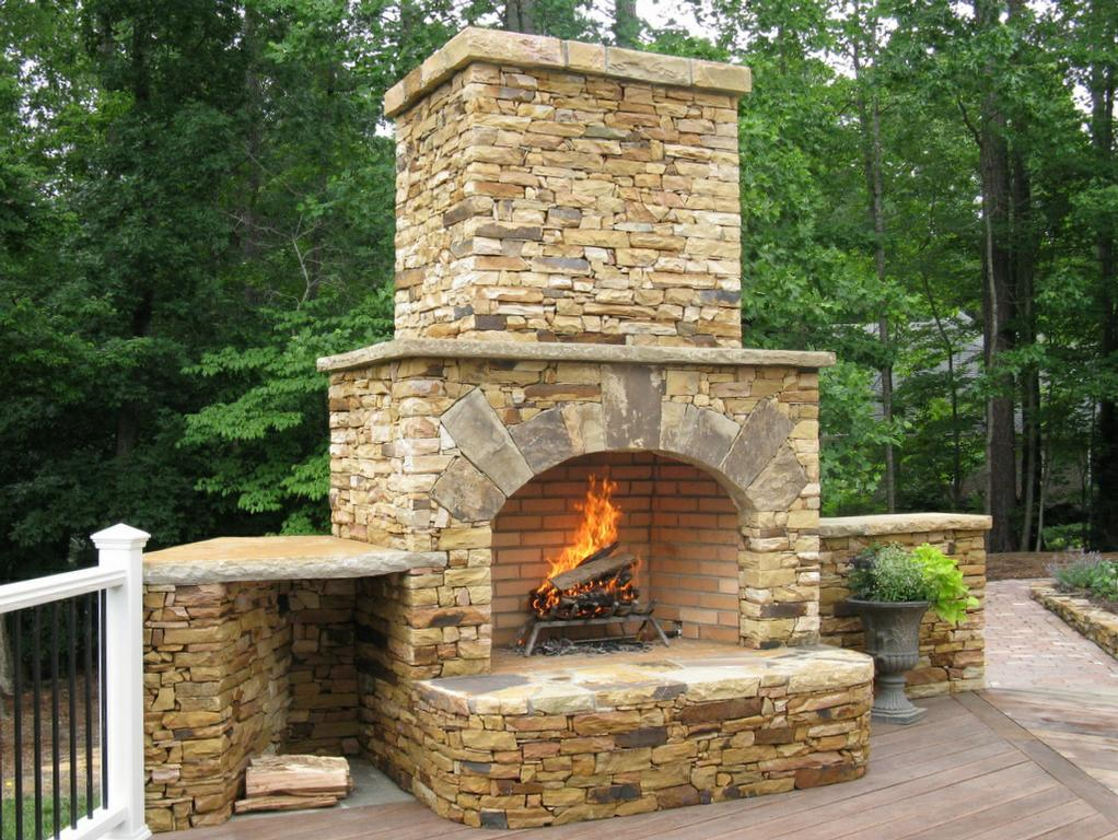 outdoor fireplaces gallery