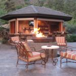 outdoor living fireplace kits