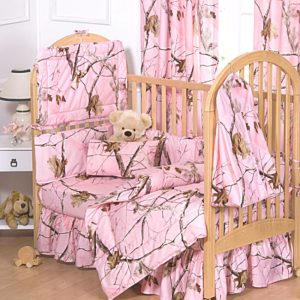 pink camouflage baby bedding sets