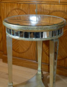 queen anne mirrored coffee table