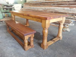 reclaimed wood table care
