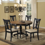 round cherry pedestal dining table