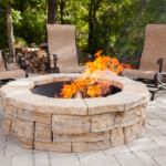 round outdoor fireplace kits