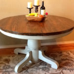 round pedestal dining table distressed