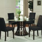 round pedestal dining table glass
