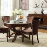 round pedestal dining table glass top