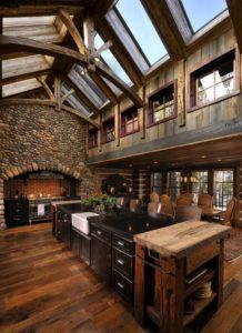 rustic knotty alder kitchens