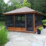 screened in deck gazebo