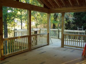 screened porch deck floor