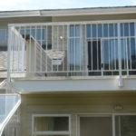 side mount aluminum deck railing