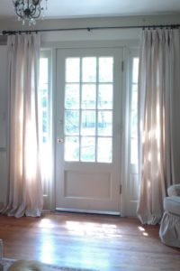 sidelight door curtains