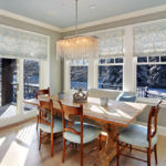 simple dining room window treatments