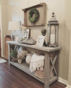 small rustic entryway table