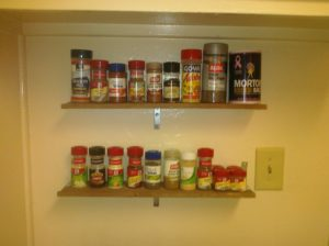 spice rack shelf ideas