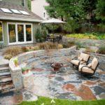 stone backyard landscaping
