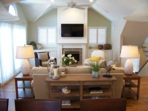 tv above fireplace decorating ideas