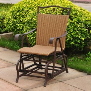 wicker patio glider furniture