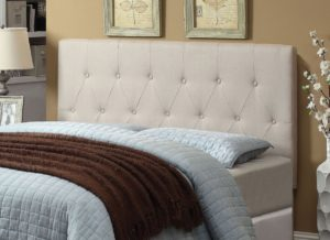 wingback tufted upholstered headboard queen