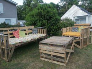 wooden pallet outdoor furniture ideas
