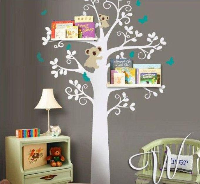 painted tree room