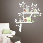 tree design wall shelves